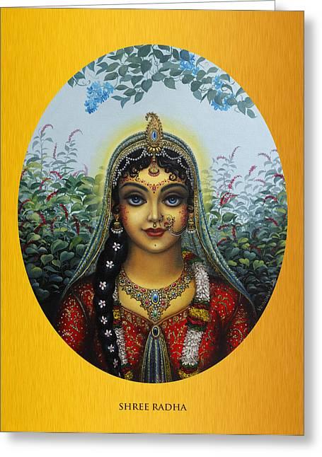 Gopi Greeting Cards - Radha Greeting Card by Vrindavan Das