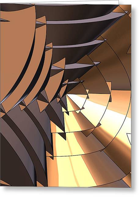 Radial Greeting Cards - Radial Edges - Bronze Greeting Card by Stephen Younts