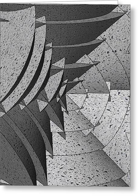 Radial Greeting Cards - Radial Edges - Concrete Greeting Card by Stephen Younts