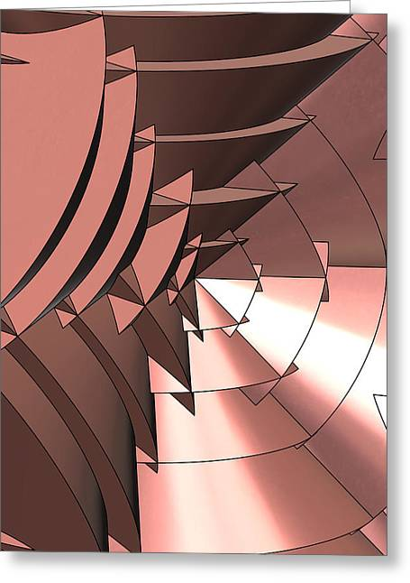 Radial Greeting Cards - Radial Edges - Copper Greeting Card by Stephen Younts