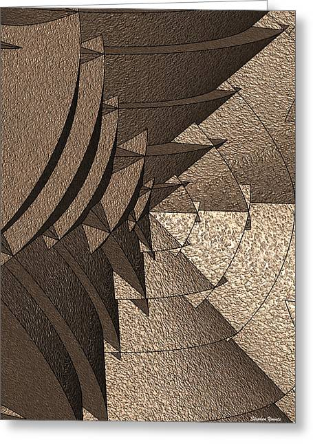 Radial Greeting Cards - Radial Edges - Earth Greeting Card by Stephen Younts