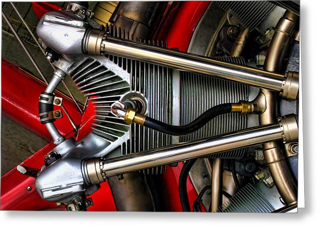 Aircraft Radial Engine Greeting Cards - Radial Engine Greeting Card by Dale Jackson