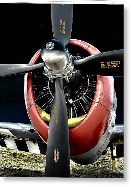 Aircraft Radial Engine Greeting Cards - Radial Power Greeting Card by Alan Toepfer