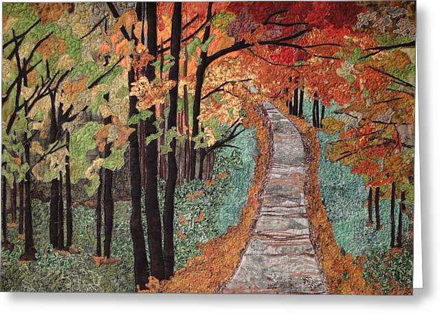 Path Tapestries - Textiles Greeting Cards - Radiant Beauty Greeting Card by Anita Jacques