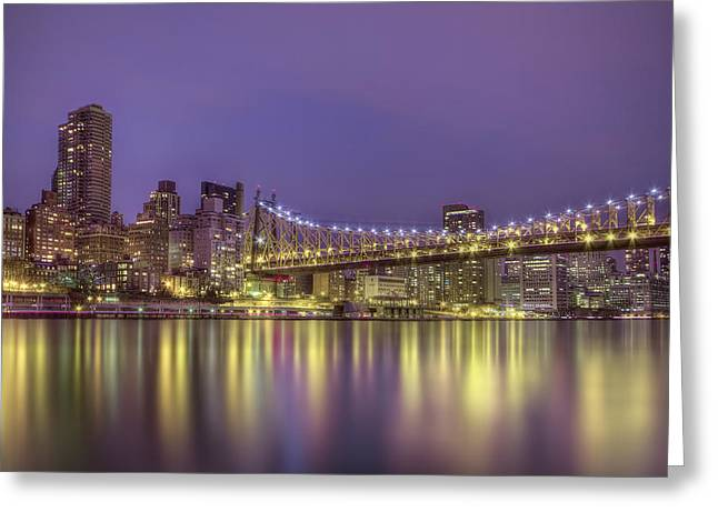 Midtown Greeting Cards - Radiant City Greeting Card by Evelina Kremsdorf