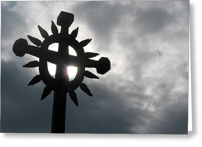 Radiant Cross Greeting Card by David T Wilkinson
