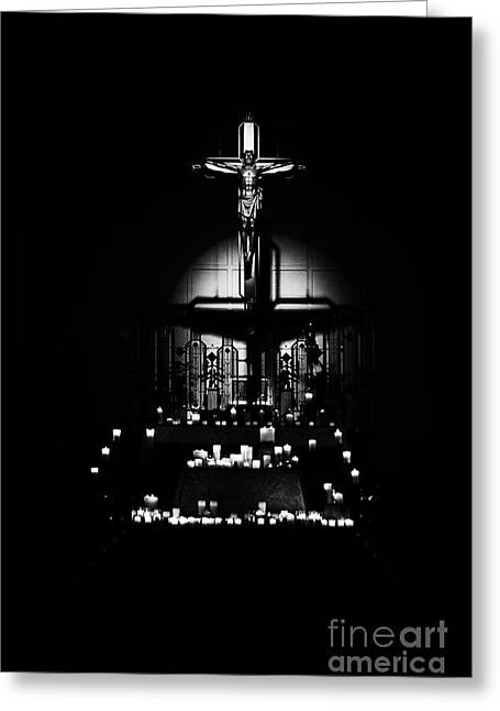 Candle Lit Greeting Cards - Radiant Light - Black Greeting Card by Frank J Casella