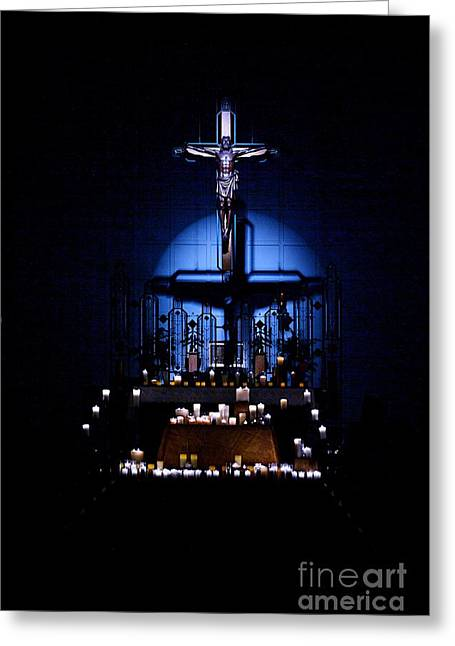 Candle Lit Greeting Cards - Radiant Light Greeting Card by Frank J Casella