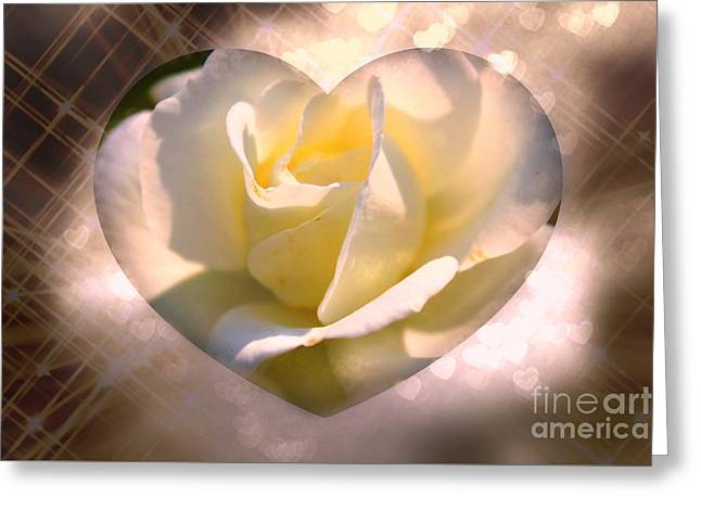 Radiant Love Greeting Card by Judy Palkimas