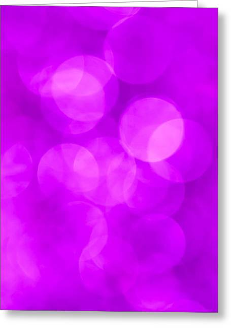 Defocused Greeting Cards - Radiant Orchid Abstract Greeting Card by Jan Bickerton