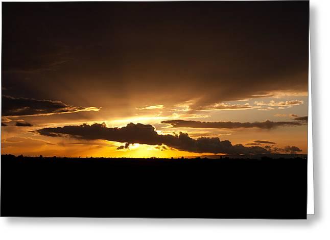 Randy Bayne Greeting Cards - Radiant Sunset Greeting Card by Randy Bayne