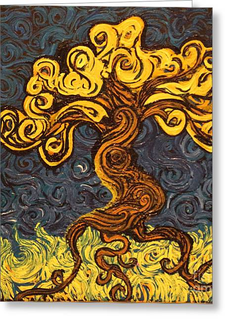 Squiggleism Greeting Cards - Radiant Within Greeting Card by Stefan Duncan