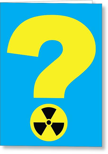 Question Mark Greeting Cards - Radiation concerns, conceptual artwork Greeting Card by Science Photo Library