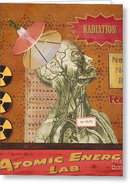 Desiree Paquette Mixed Media Greeting Cards - Radiation Need Not Be Feared Greeting Card by Desiree Paquette