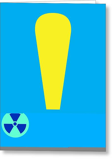 Cut-outs Greeting Cards - Radiation warning, conceptual artwork Greeting Card by Science Photo Library