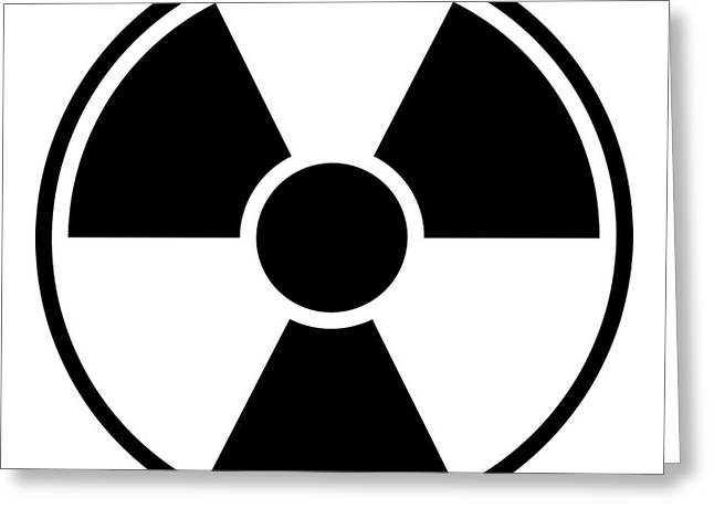 Industrial Icon Digital Art Greeting Cards - Radiation Warning Sign Greeting Card by Henrik Lehnerer