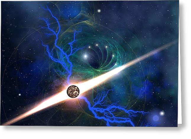 Interstellar Space Digital Art Greeting Cards - Radient Energy Greeting Card by Corey Ford