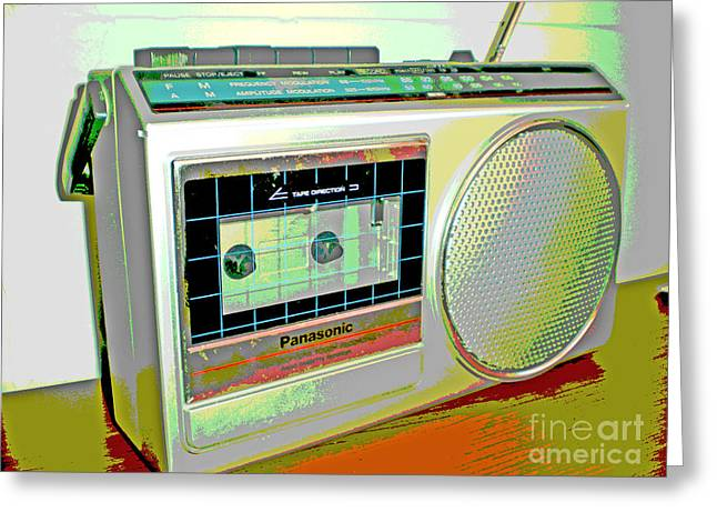 Tape Player Greeting Cards - Radio 1 Greeting Card by Monique Morales