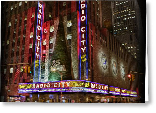 Kwanzaa Greeting Cards - Radio City Christmas in December Greeting Card by Lee Dos Santos