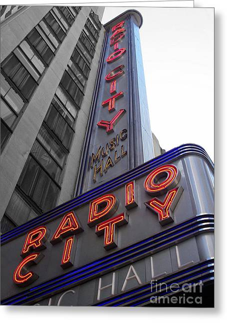 Holm Greeting Cards - Radio City Greeting Card by Dan Holm