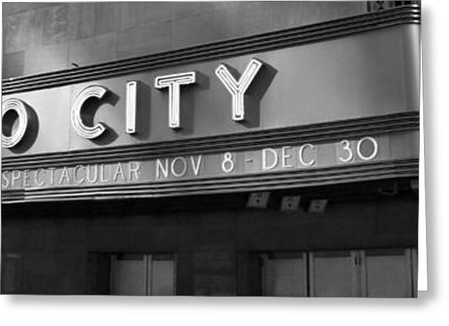 Iconic Radio Greeting Cards - Radio City In Black And White Greeting Card by Dan Sproul