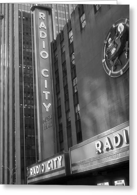 Iconic Radio Greeting Cards - Radio City Music Hall Greeting Card by Dan Sproul