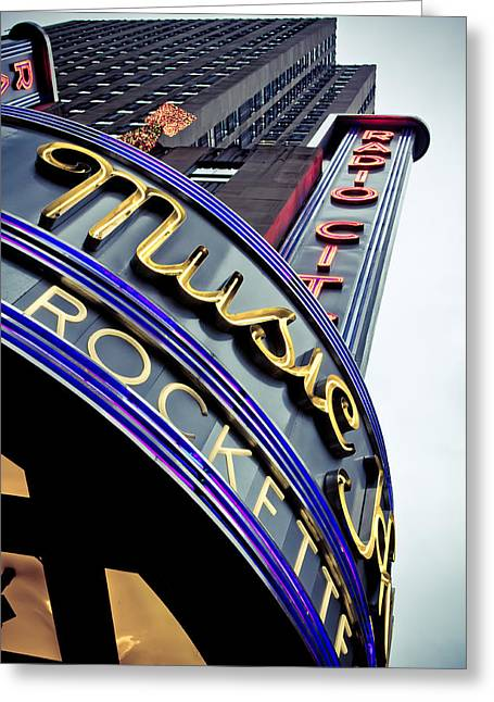 Broadway Musical Greeting Cards - Radio City Music Hall Greeting Card by Jane M