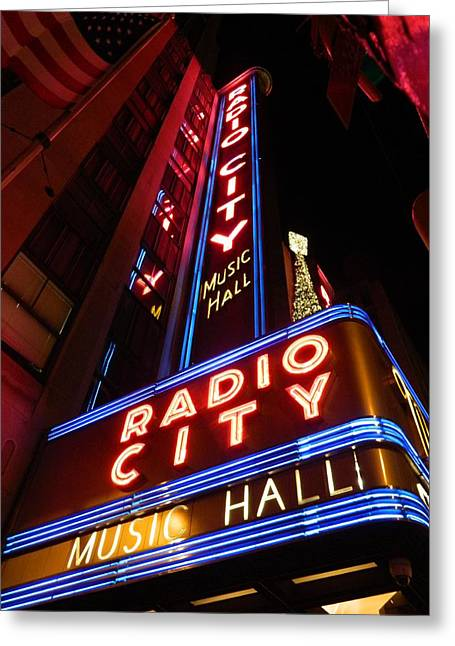City Hall Pyrography Greeting Cards - Radio City Greeting Card by Stefan Troberg