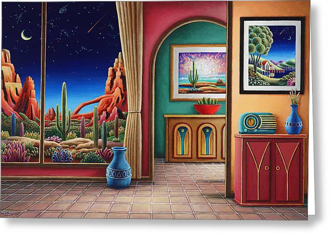 Whimsical. Greeting Cards - Radio Days 12 Greeting Card by Andy Russell
