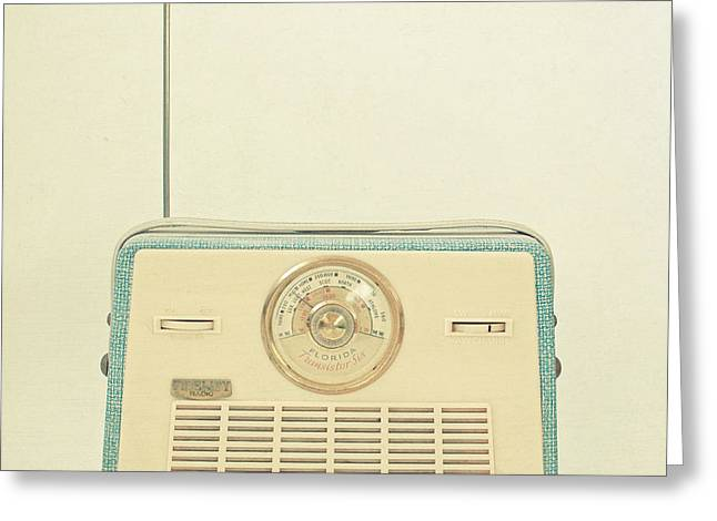 Mid Century Radio Greeting Cards - Radio Days Greeting Card by Cassia Beck