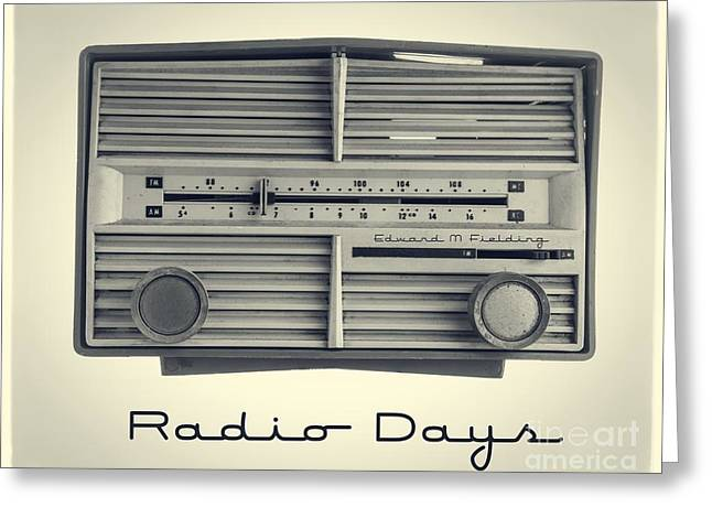 1950s Music Greeting Cards - Radio Days Greeting Card by Edward Fielding