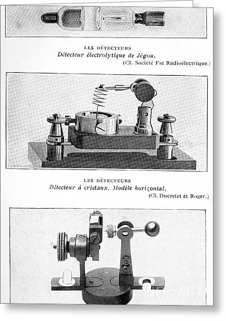 Electrolytic Greeting Cards - Radio Receiver Components, 1914 Greeting Card by Spl