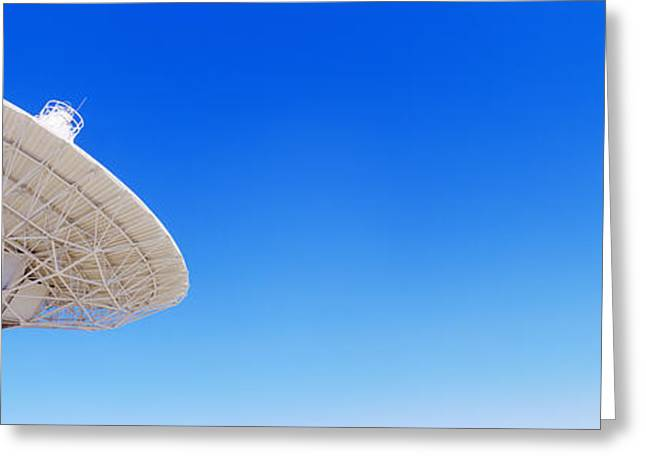 Radio Telescope Satellite Dishes Greeting Card by Panoramic Images