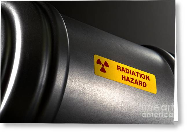 Label Greeting Cards - Radioactive Greeting Card by Olivier Le Queinec