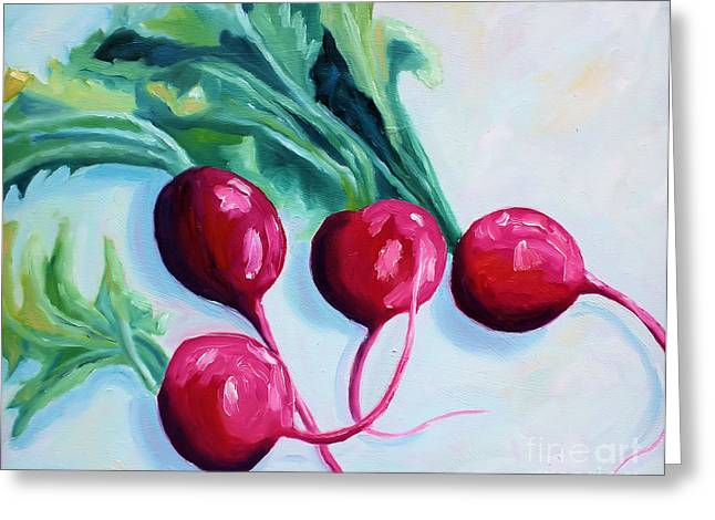 Radishes Greeting Card by Todd Bandy