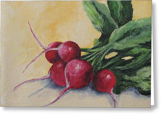 Red Radish Greeting Cards - Radishes Greeting Card by Torrie Smiley