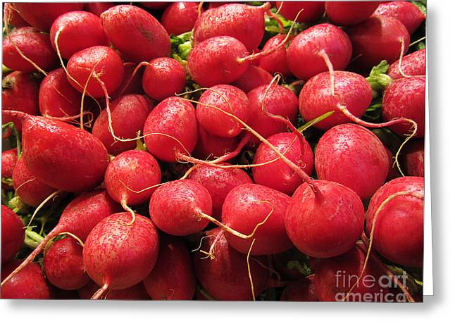 Farm Stand Greeting Cards - Radishes Greeting Card by Victoria Harrington