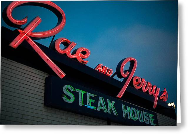 Rae And Jerry's Greeting Card by Bryan Scott