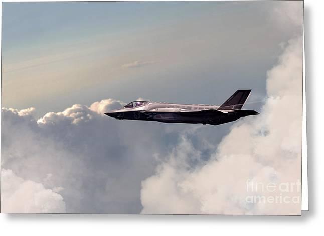 Raf F-35 Lightning II Greeting Card by J Biggadike