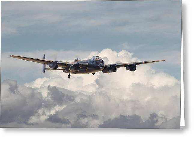 Lancasters Greeting Cards - RAF Lancaster Greeting Card by Pat Speirs