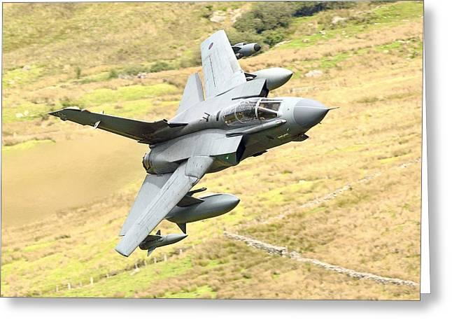 Raf Greeting Cards - RAF Tornado - Low Level -02 Greeting Card by Pat Speirs