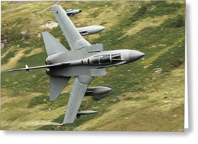 Raf Tornado - Low Level Greeting Card by Pat Speirs