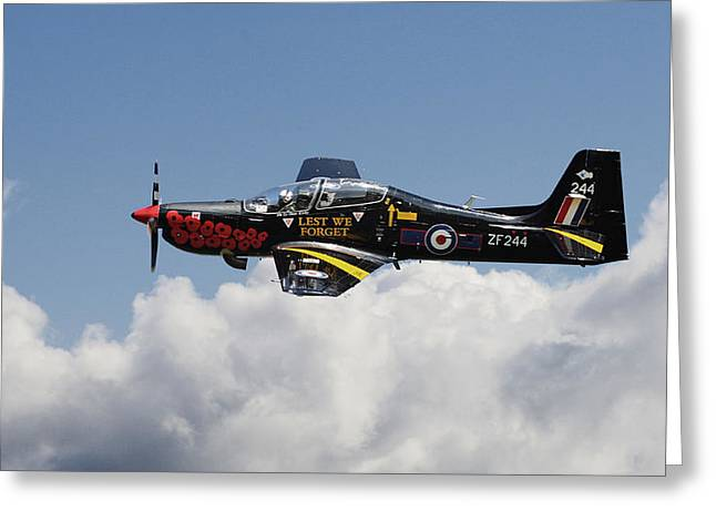 Trainer Greeting Cards - R A F Tucano - Trainer aircraft Greeting Card by Pat Speirs