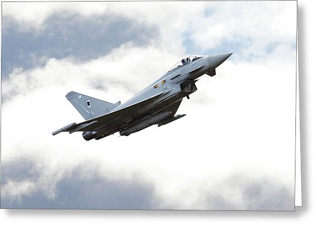 Raf Greeting Cards - RAF Typhoon - Ad Astra Greeting Card by Pat Speirs
