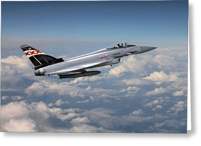 Raf Greeting Cards - RAF Typhoon - Eurofighter Greeting Card by Pat Speirs