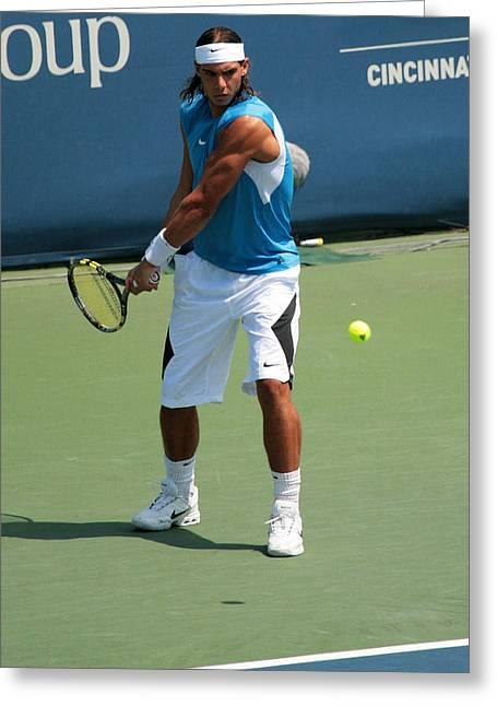 Apt Greeting Cards - Rafael Nadal  Greeting Card by James Marvin Phelps