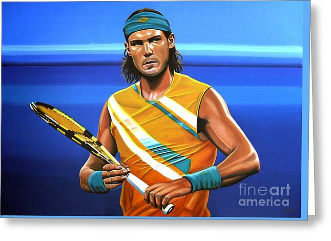 Us Open Greeting Cards - Rafael Nadal Greeting Card by Paul  Meijering