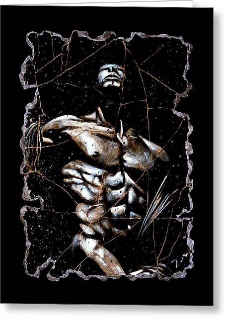 Male Nudes Greeting Cards - Rafael Greeting Card by Steve Bogdanoff