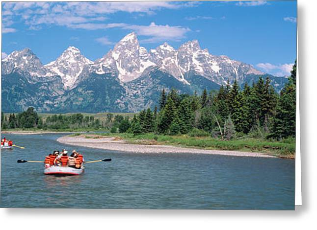 Height Greeting Cards - Rafters Grand Teton National Park Wy Usa Greeting Card by Panoramic Images