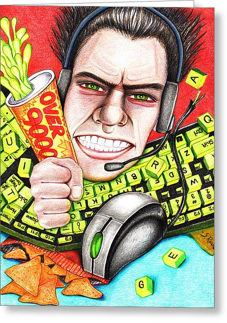 Video Game Food Greeting Cards - Rage Quit Greeting Card by Shawna  Rowe